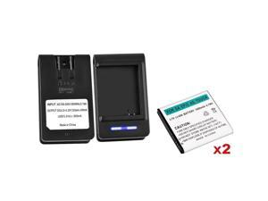 eForCity 2x 1800mAh Li-Ion Battery+Dock Charger Compatible with Samsung©Epic Touch 4G Galaxy S2