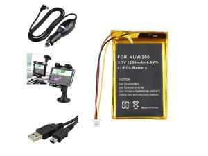 eForCity Battery+Dc Charger+Holder+Usb Compatible With Garmin Nuvi 765T 205W
