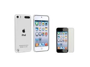 eForCity clear Clip-on Crystal Case with FREE Colorful Diamond LCD Cover compatible with the NEW Apple® iPod Touch 5 / 5th ...