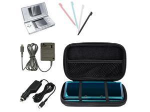 eForCity Black Lite Eva Case + 2-LCD Kit Screen Protector + Blue / White / Black / Pink 4-Piece Stylus Bundle Compatible ...