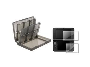 eForCity Smoke 28-in-1 Card Case+Top+Bottom LCD Film Screen Protector For Nintendo 3DS XL