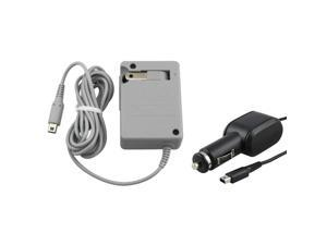 Home +Car Battery Charger Adapter For Nintendo Dsi Xl