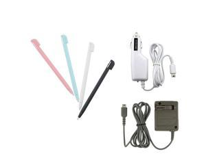 2 Charger Set + 4 Stylus Pen for Nintendo DS LITE NDSL