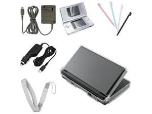 Hard Case+Guard+Car Charger+Gift for Nintendo DS lite