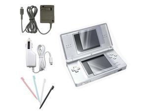 For Nintendo DS LITE NDSL Accessary Bundle Car Charger + Home Charger + Screen Protector + Stylus