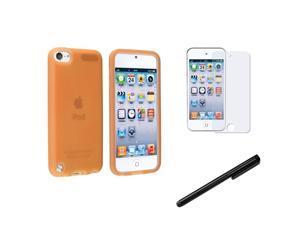 eForCity Orange Gel Cover Case+Anti-Glare Film+Black Stylus For Apple® iPod Touch 5 G 5th Gen
