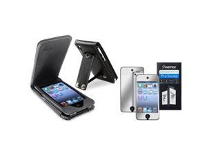 Leather Case Cover+Mirror LCD Compatible with iPod touch 4th Gen 4G