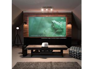 "Elite Screens Aeon AR100H-ST Fixed Frame Projection Screen - 100"" - 16:9 - Wall Mount"