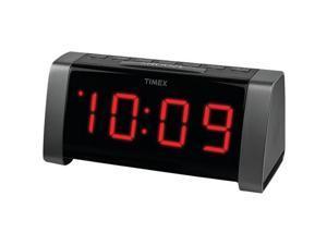 "TIMEX T235B AM/FM Dual Alarm Clock Radio with Jumbo 1.8"" LED Display & Aux Input (Black)"