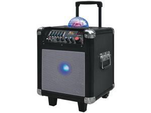 QFX PBX-507100BT Silver Portable Party Mini Speaker (Silver)