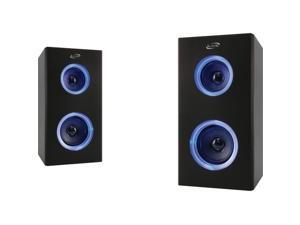 ILIVE ISB2006B Dual Bluetooth(R) Speakers with LEDs