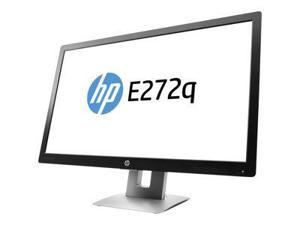 "HP E272q 27"" Black Professional Quad HD IPS Monitor 2560 x 1440 with 7ms Response Time and 60 Hz Refresh Rate, 16:9, Tilt / Swivel Adjustment, VGA, HDMI, DisplayPort, 3 x USB 2.0"
