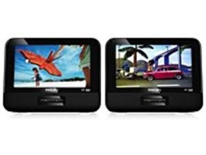 Philips PD9016/37 Vehicle Portable DVD Player - 9-inch Dual-Screens - CD/DVD Media - Black