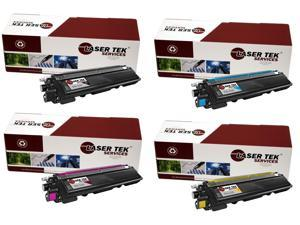 Laser Tek Services® Brother TN210 4 Pack (TN210BK, TN210C, TN210M, TN210Y) Compatible Replacement Toner Cartridges
