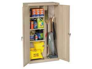 Tennsco JAN6618DHPY Janitorial Cabinet, 36w x 18d x 64h, Putty