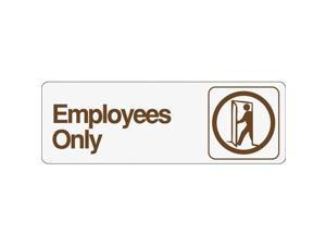 3X9 EMPLOYEES ONLY SIGN D-2