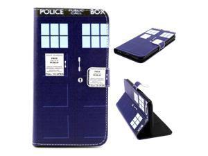For iphone 6 Plus  #40;5.5 Inch #41; Case, FocusUp Cute Police Box Premium PU Leather Flip Magnetic