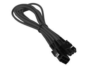 6 Pin to 8 Pin (6+2 Pin) PCI-E PCI Express Braided Cable Cord Adapter