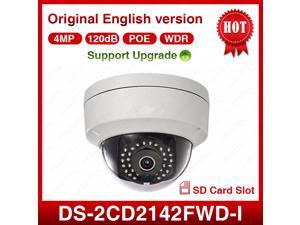 Hikvision Original DS-2CD2142FWD-I IP Network Camera English Version 4MP Support PoE Upgrade IP67 IR Camera 2.8mm Lens