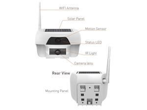 Solar Powered Wireless Outdoor WIFI IP Surveillance Camera Audio CCTV System