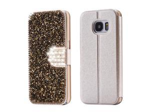 FLOVEME Diamond Phone Cases For Samsung Galaxy S7 Luxury Leather Bling Glitter Stand Wallet