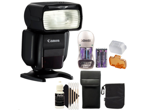Canon 430EX III Speedlite Camera Flash for EOS Digital SLR Cameras + Battery and Charger + 3pc Cleaning Kit