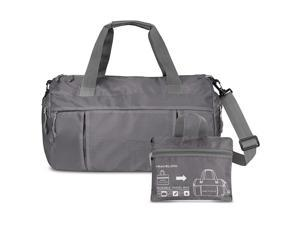 d036f8e6d7 Travelon Featherweight Packable Duffle Travel Gym Bag Gray