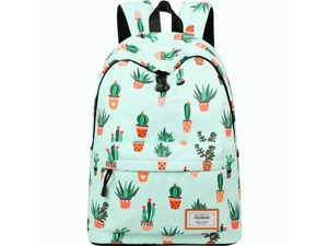 fbdc519e4d Waterproof Fashion Backpack for Girls Teenage School Backpack Fit for 15.6  Inches Laptop Cactus