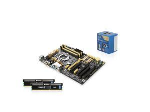 Intel Core i5-4670 CPU, ASUS Z87-A MB, 2 X CORSAIR 4GB MEM