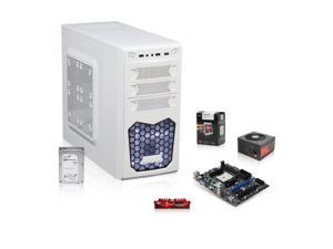 AMD 5800k Trinity 3.8GHz Quad-Core APU with Radeon HD 7660, MSI FM2 A55 MOBO, Seagate 1TB HDD, G.SKILL 4GB MEM, LEPA N 500W PSU, Xion XON White Case