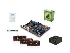 Mining Kit UAM-K140: AMD Sempron 145 Sargas 2.8GHz Single-Core, 970, 4GB DDR3 MEM, 500GB HDD, 3 X TurboDuo Radeon R9 280X ...