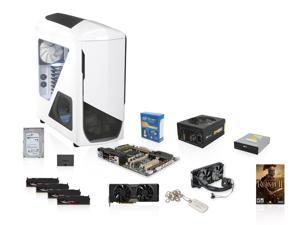 NZXT Phantom 530 White, Corsair RM 850W, ASUS Sabertooth X79, Intel Core i7-4820K 3.7GHz Quad Core, Corsair H100i Cooler, ...