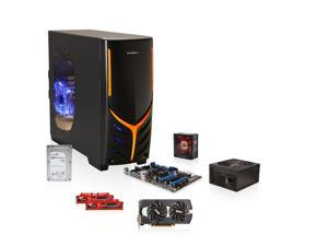 AMD FX-8320 3.5GHz Eight-Core CPU, MSI 970 MOBO, SAPPHIRE DUAL-X Radeon R9 270 2GB, G.SKILL Ripjaws X 8GB MEM, Seagate 1TB ...