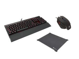 Corsair Gaming Kit GKO-3140: Corsair K70 Blue Switch Mechnical Keyboard, Corsair M65 8200 DPI Gaming Mouse, Corsair MM600 ...