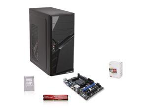 AMD Richland 3.2 GHz APU with Radeon HD 7480D, MSI A55M MOBO, Toshiba 500GB HDD, ADATA 4GB MEM, Diablotek 400W PSU with Case