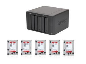 Enterprise NAS Series POK140: Synology DS1513+ NAS Server,5x WD Red 4TB Intellipower NAS HDD