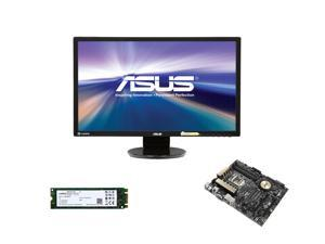 "Pro Upgrade PIA-6140: Asus Z97-Pro Motherboard, Asus 24"" Full HD Monitor, Crucial M550 128GB M.2 SSD"