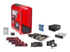 Maximum PC's July Blueprints - NZXT Phantom 530 Red, XFX 1050W PSU, ASUS X79 MB, Intel core i7-4820K 3.7GHz Quad Core, Corsair ...