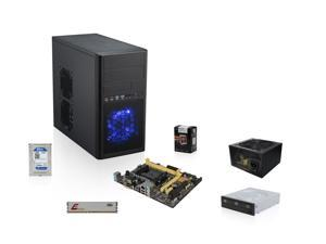 AMD A8-5600K Trinity 3.6GHz Quad-Core APU with Radeon HD 7560 D, ASUS A55 FM2+ MOBO, WD 1TB HDD, Team 4GB MEM, LITE-ON 24X DVD Burner, Rosewill ARC 550W PSU, Rosewill LINE-M Case
