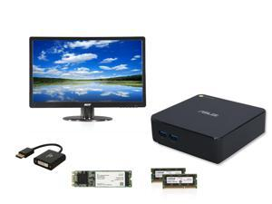 "Chromebox Kit EIA-6140K: ASUS ChromeBox, Acer 21.5"" Monitor, Coboc DVI Adapter Cable, Intel 530 Series 80GB SSD, Crucial ..."