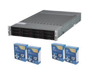 Enterprise Barebone PIS-K140: 4 x Intel Xeon E5-2603v2 1.8 Quad-Core CPU, Supermicro Sys-6027TR-DTRF Barebone 2U Rackmount