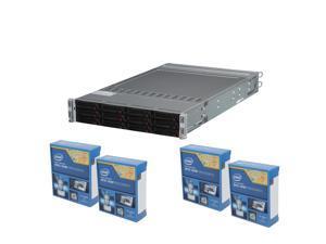 Enterprise Series PIS-K140: 4 x Intel Xeon E5-2603v2 1.8 Quad-Core CPU, Supermicro Sys-6027TR-HTRF Barebone 2U Rackmount