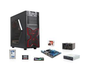 AMD FX-6300 3.5GHz Six-Core CPU, ASUS 760G Mobo, Team Dark 8GB MEM, WD 1TB HDD, SanDisk 128GB SSD, ASUS 24X DVD Burner, Logisys 575W PSU, DIYPC Solar-M1-R Case