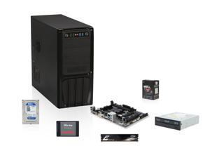 AMD 6600K Richland 3.9GHz Quad-Core APU with Radeon HD 8570D, GIGABYTE A78M FM2+ MOBO, SanDisk 128GB SSD, WD Blue 1TB HDD, Team Elite 8GB MEM, ASUS 24X DVD Burner, Rosewill R536-BK Black Hot Dipped Galvanized Case with 500W PSU