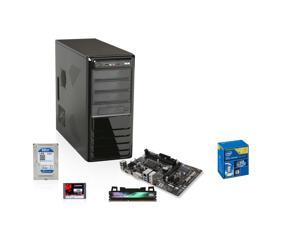 Intel Haswell 3.4GHz Dual-Core CPU, GIGABYTE H81M MOBO, Team Dark 8GB MEM, Kingston V300 120GB SSD, WD Blue 1TB HDD, Rosewill R519-BK Case with 500W PSU