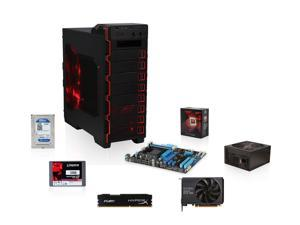 AMD FX-8320 3.5GHz Eight-Core CPU, ASUS 970 AM3+ MOBO, EVGA GTX 750 1GB, Kingston V300 120GB SSD, WD 1TB HDD, HyperX Fury ...