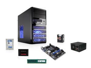 AMD A8-5800K Trinity 3.8GHz Quad-Core APU w/ Radeon HD 7660D, MSI A55 FM2+ MOBO, SanDisk 128GB SSD, WD 1TB HDD,  Crucial 4GB MEM, LOGISYS 480W PSU, Rosewill LINE-M Case