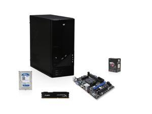 AMD 6600K Richland 3.9GHz Quad-Core APU with Radeon HD 8570D, MSI A55 MOBO, WD 1TB HDD, HyperX Fury 8GB MEM, LOGISYS 206Bk Case with 480W PSU