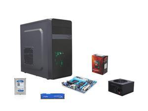 AMD FX-8370E Vishera 3.3Ghz 8-Core CPU, GIGABYTE 760G MOBO, HyperX Fury 8GB MEM, WD Blue 1TB HDD, Thermaltake 430W PSU, DIYPC MA01-Black Micro-ATX Mini Tower