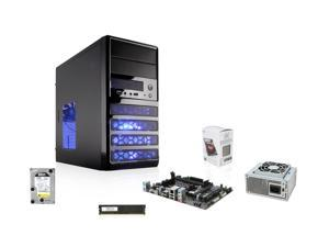 AMD A4-6300 Richland 3.7GHz Dual-Core APU with Radeon HD 8370, GIGABYE A55 FM2+ MOBO, G.SKILL 4GB MEM, WD RE3 1TB (Refurbished) HDD, LOGISYS 350W PSU, Rosewill RANGER-M Case